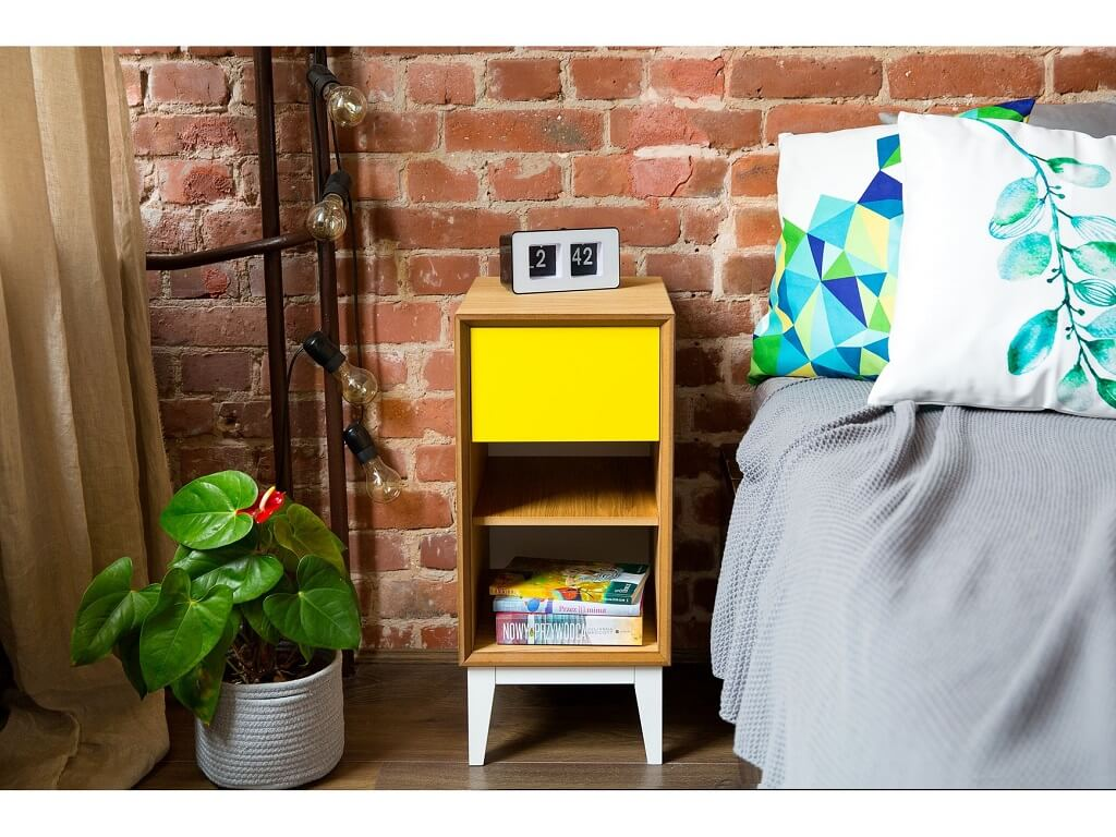 nowoczesna szafka nocna w różnych kolorach